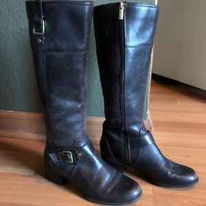 Bandolino knee high brown leather boots